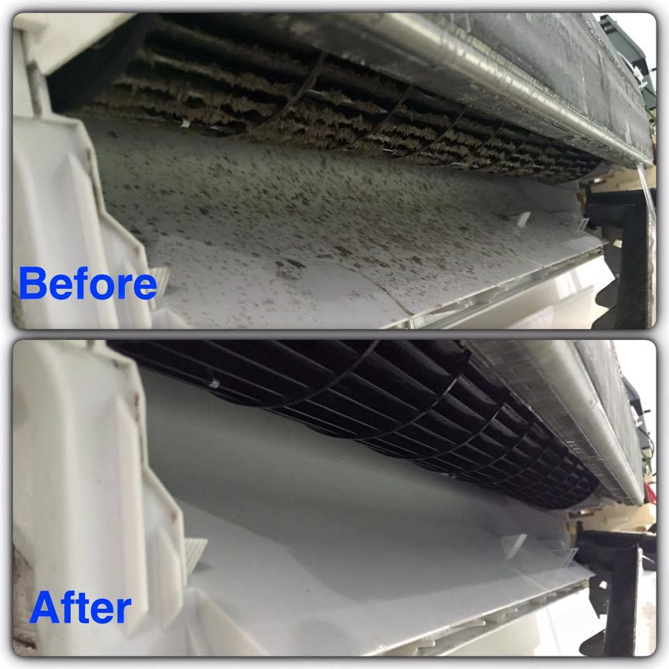 Before and After Air Conditioning Clean